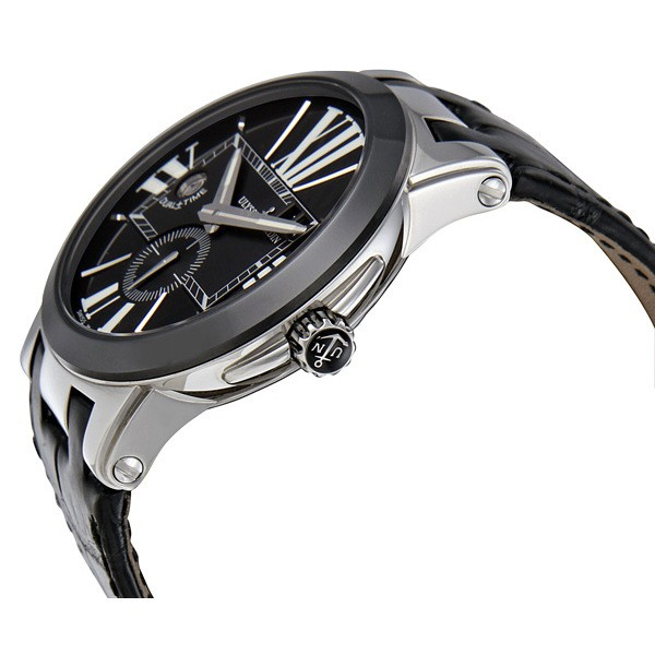 Ulysse Nardin Executive Dual Time Automatic Black Leather Men's Watch 243-00-42