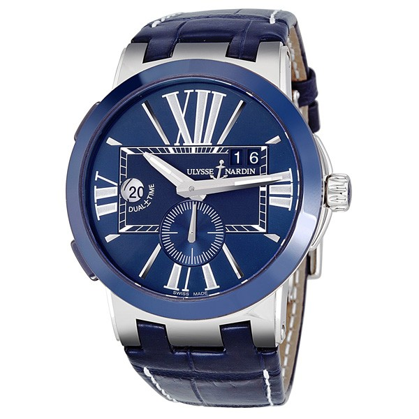 Ulysse Nardin Executive Dual Time Automatic Blue Dial Men's Watch 243-00-43